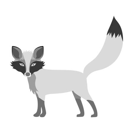 silhouette of Fox icon. Animal cartoon and nature theme. Isolated and drawn design. Vector illustration Illustration