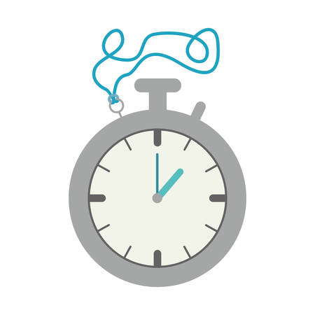 chronometer time device icon over white background. illustration