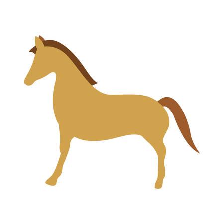 ranger: brown horse animal icon over white background. vector illustration