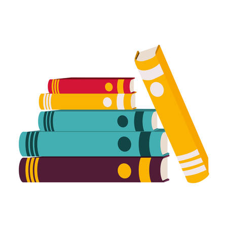 academic book icon over white background. Learning knowledge and library theme. Colorful design. vector illustration Illustration