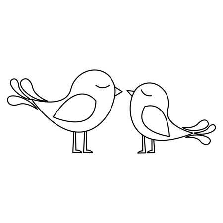 lovebirds cartoon icon image vector illustration design