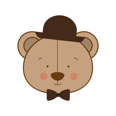 teddy bear character icon image vector illustration design