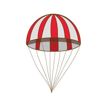 parachute single icon image vector illustration design Illustration