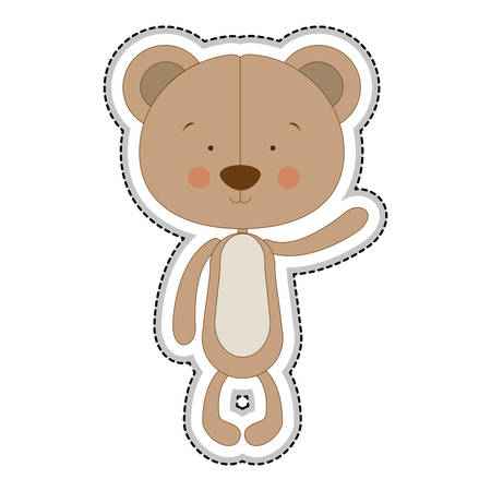 teddy bear character icon image vector illustration design