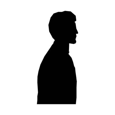 profile silhouette: man silhouette profile icon image vector illustration design