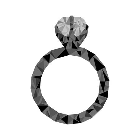 engagement ring icon image vector illustration design