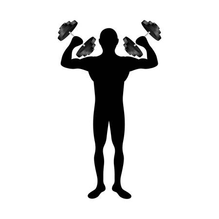 nutritional: fit man silhouette icon image vector illustration design