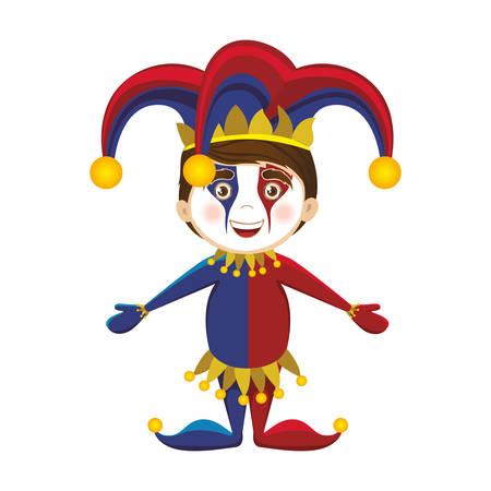mummery: harlequin character icon image vector illustration design Illustration
