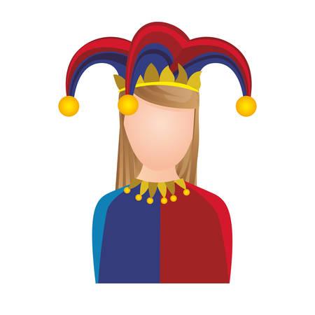 harlequin character icon image vector illustration design Illustration