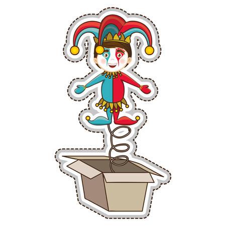 jack in the box: jack in the box icon image vector illustration design Illustration