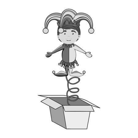 jack in the box icon image vector illustration design Illustration