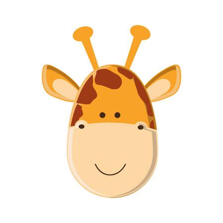 giraffe cartoon animal icon image vector illustration design
