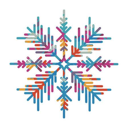 snowy hill: snowflake creative icon image vector illustration design