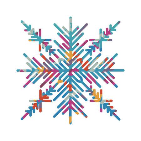 snowflake creative icon image vector illustration design