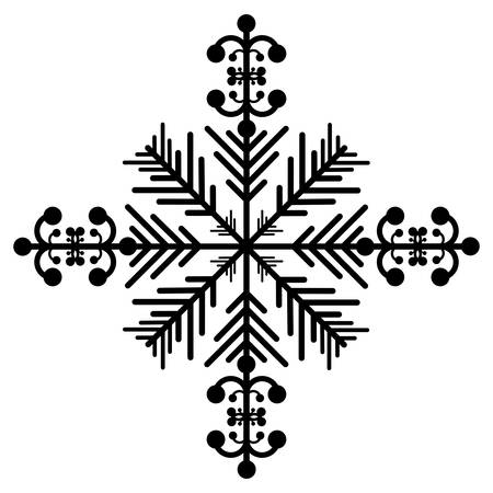 snowflake creative icon image vector illustration design
