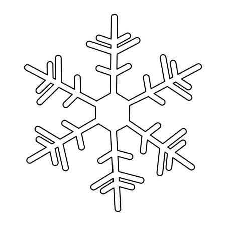 snowy hill: creative snowflake icon image vector illustration design