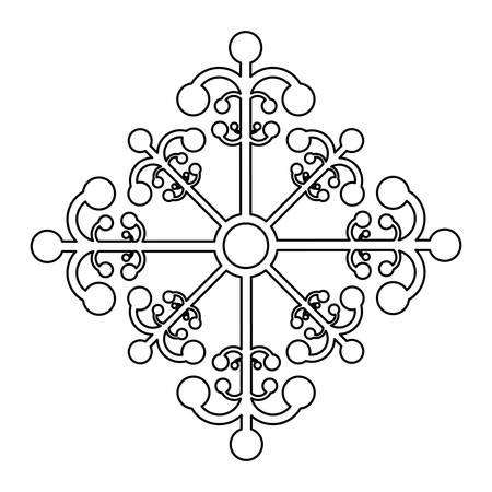 slopes: creative snowflake icon image vector illustration design