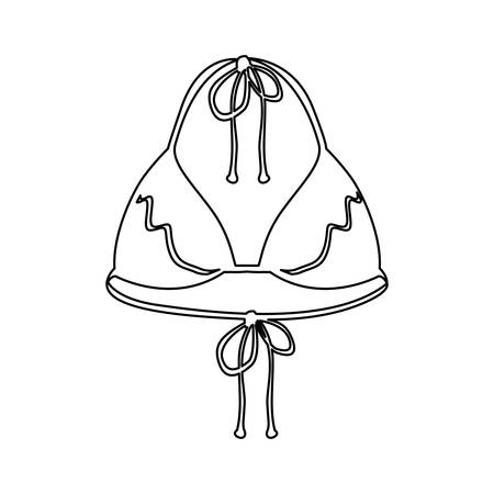 woman swimsuit icon image vector illustration design