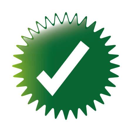 check mark icon image vector illustration design