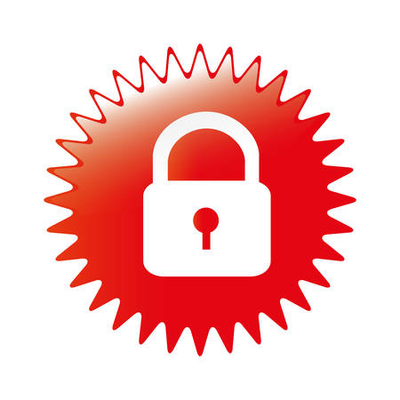safety lock icon image icon image vector illustration design