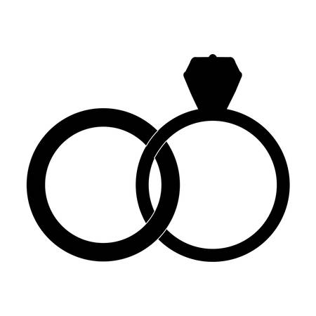 engagement ring icon image vector illustration design