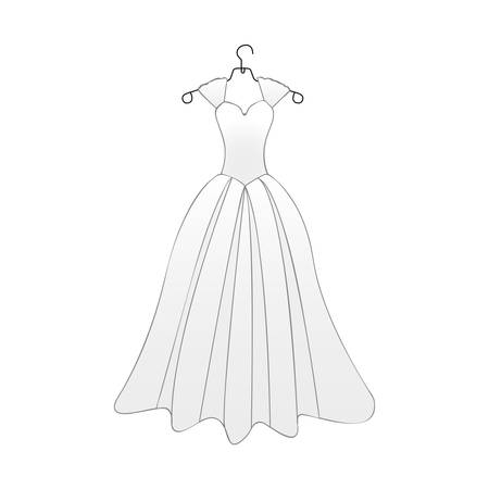 flayer: bride gown icon image vector illustration design