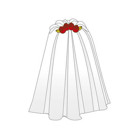 bride veil icon image vector illustration design