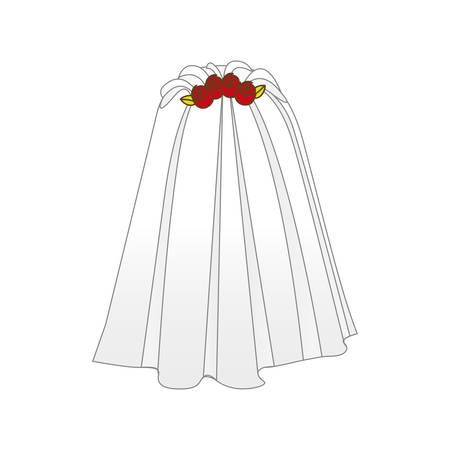 bruid sluier pictogram vectorillustratieontwerp