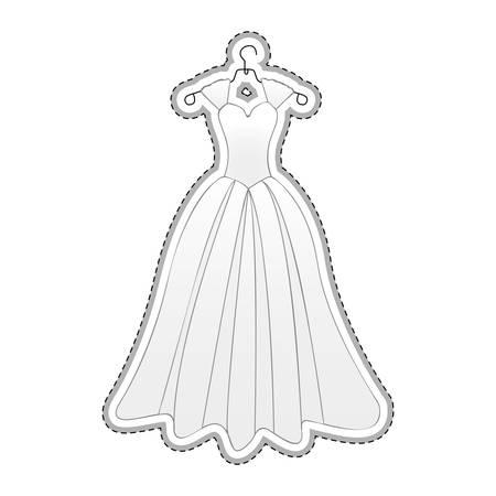 bride dress icon image vector illustration design