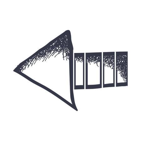 flechas direccion: direction arrow icon image vector illustration design