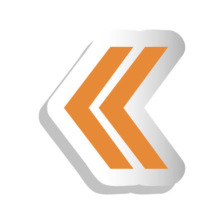 direction arrow icon image vector illustration design
