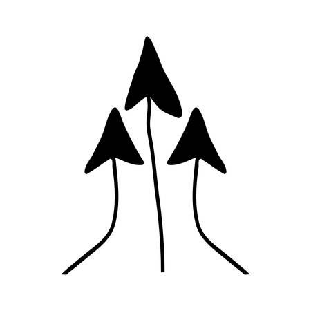orientation marker: scribble arrow icon image vector illustration design