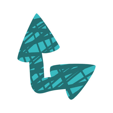 scribble arrow with pattern icon image vector illustration design