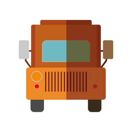 transporter: cargo truck icon. transportation vehicle design. vector illustration