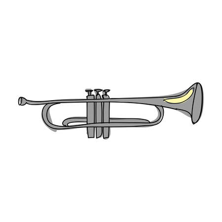 trumpet instrument icon image vector illustration design Illustration