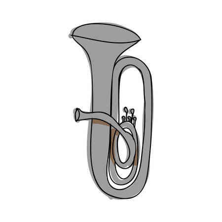 melodic: tuba instrument icon image vector illustration design