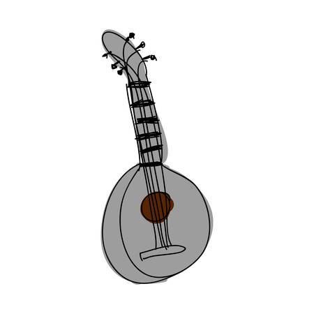 mandolin guitar instrument icon image vector illustration design Illustration