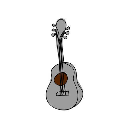 acoustic guitar instrument icon image vector illustration design