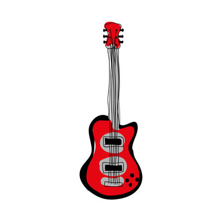 chimes: electric guitar instrument icon image vector illustration design