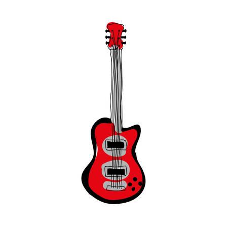 electric guitar instrument icon image vector illustration design