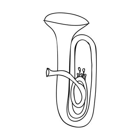 tuba: tuba instrument icon image vector illustration design