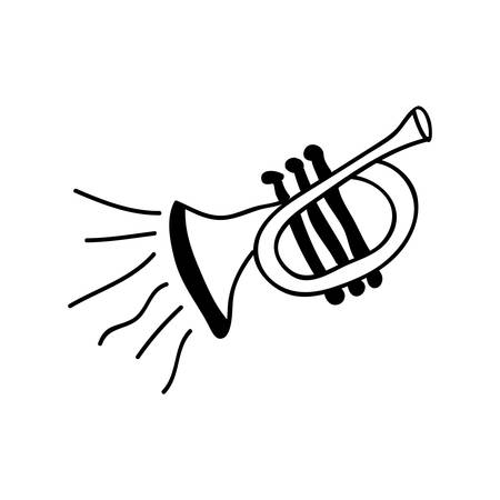 cornet: trumpet instrument icon image vector illustration design Illustration