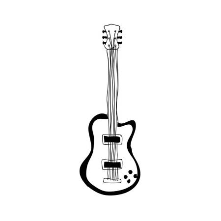 electric guitar instrument icon image vector illustration design