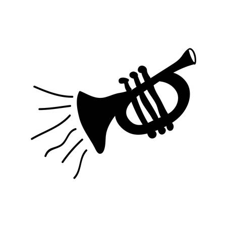 trumpet instrument icon image vector illustration design Illustration