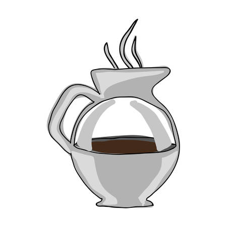 coffee kettle icon image vector illustration design