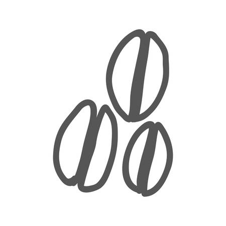 roasting: coffee beans icon image vector illustration design