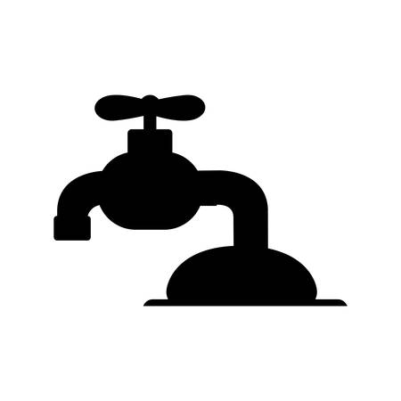 ooze: water faucet icon image vector illustration design Illustration