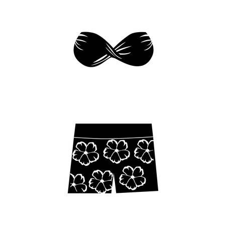 beachwear: woman swimsuit icon image vector illustration design