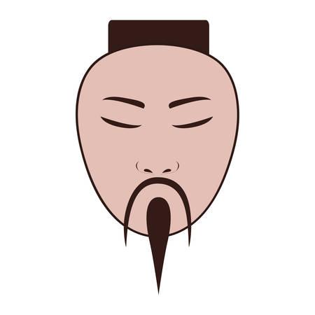 east asian man icon image vector illustration design