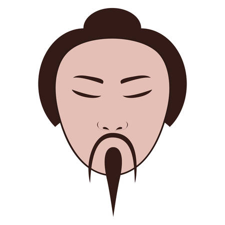 east asian man icon image vector illustration design